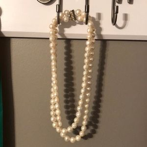 Macy's double stack pearl necklace